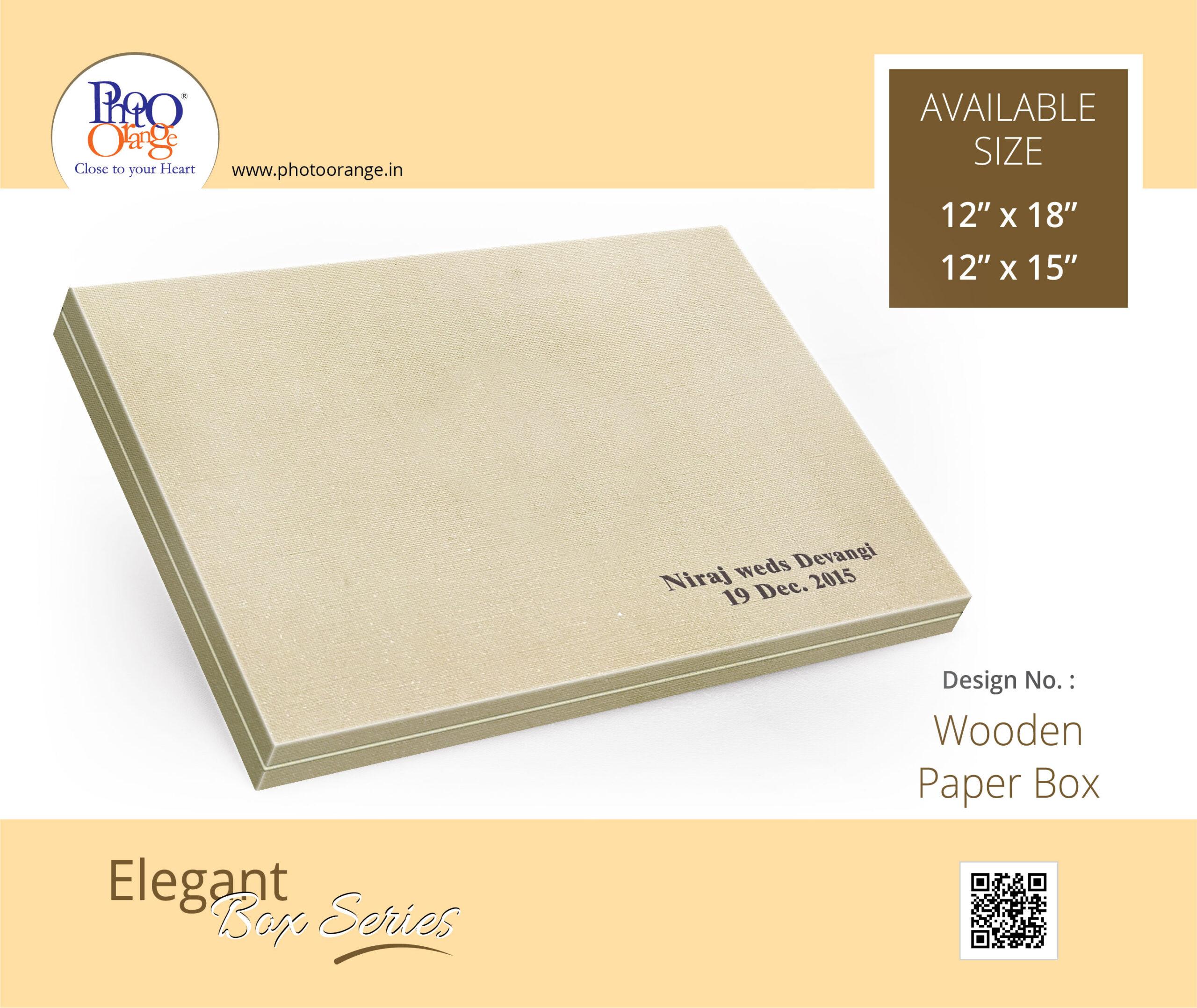 Wooden Paper Box